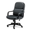 leatherchairs: Mayline® Big & Tall Series Executive Swivel/Tilt Leather Chair with Polyurethane Arms