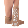 slippers: PBE - Slipper Socks Pillow Paws Adult X-Large Tan Ankle High