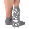 slippers: PBE - Slipper Socks Pillow Paws® Adult 2 X-Large Gray Ankle High, 12EA/DZ