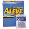 first aid medicine and pain relief: Bayer - Pain Reliever Aleve® Caplets 220 mg, 150EA per Bottle