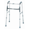 Samsonite-crutches-walkers: McKesson - Folding Walker Adjustable Height SunMark® Anodized Aluminum, Steel 300 lbs.