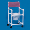 bedpans & commodes: Innovative Products - Shower Commode Chair With Arms PVC Mesh Back 21 Inch