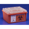 Kendall Multi-purpose Sharps Container Sharps-A-Gator™ 1-Piece 1 Gallon Red Base Horizontal Entry Lid MON 36992800