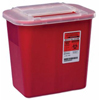 Kendall Multi-purpose Sharps Container Sharps-A-Gator™ 10.25H X 7D X 10.5W 2 Gallon Red Base Sliding Lid MON 41132800