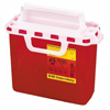 Needles & Syringes: BD - Multi-purpose Sharps Container 1-Piece 12H X 13.5W X 6D Inch 2 Gallon Red Base Horizontal Entry Lid, 10EA/CS