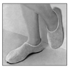 Emerald: PBE - Slippers Pillow Paws Large Emerald Ankle High