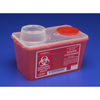 Kendall Multi-purpose Sharps Container Monoject™ 1-Piece 7.08H X 6.75W X 10.56D 4 Quart Red Base Chimney Top MON 60382800