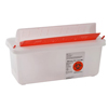 Kendall Multi-purpose Sharps Container In-Room™ 1-Piece 6.25H X 10.75W X 4.75D 2 Quart Translucent Base Horizontal Entry Lid MON 85022800
