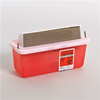 Kendall Multi-purpose Sharps Container In-Room™ 1-Piece 6.25H X 10.75W X 4.75D 2 Quart Translucent Red Base Horizontal Entry Lid MON 85032800