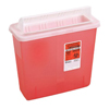 Kendall Container Sharps In Room Red with Clear Top 3Gl MON 85222800