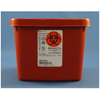 Kendall Multi-purpose Sharps Container 1-Piece 4.5H X 4.75D X 4.75W 0.5 Gallon Red Base Rotor Lid MON 89212800