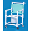 bedpans & commodes: Innovative Products - Shower Commode Chair With Arms PVC Mesh Backrest