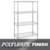 "wire shelving & steel shelving: Nexel Industries - Wire Shelving Starter Unit, 4 Shelves, L 24""x W 18""x H 74"""