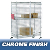 "Safety storage & security carts: Nexel Industries - Standard Security Truck, L 48""x W 24""x H 69"""
