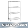 "wire shelving & steel shelving: Nexel Industries - Wire Shelving Starter Unit, 4 Shelves, L 30""x W 18""x H 74"""