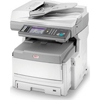 multifunction office machines: Oki® MC860 MFP Multifunction Color Printer With One Tray and 2-Year Warranty