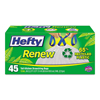 waste receptacle and can liners: Hefty® Renew Recycled Kitchen & Low Density Trash Bags