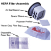 floor equipment and vacuums: Pullman Ermator - HEPA Filter Assembly for Model 102 Series Vacuum's