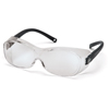 eye protection: Pyramex Safety Products - OTS® Eyewear Clear Lens with Black Temples