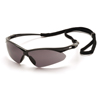 eye protection: Pyramex Safety Products - PMXTREME™ Eyewear Gray Lens with Black Frame & Cord