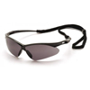 eye protection: Pyramex Safety Products - PMXTREME™ Eyewear Gray Anti-Fog Lens with Black Frame & Cord