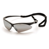 eye protection: Pyramex Safety Products - PMXTREME™ Eyewear Silver Mirror Lens with Black Frame & Cord