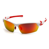 Sky-products: Pyramex Safety Products - Tensaw Eyewear Sky Red Mirror Anti-Fog Lens with White Frame