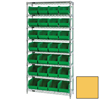 wire shelving: Quantum Storage Systems - Wire Shelving Unit with Ultra Bins