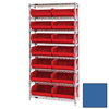 Shelving Units Steel Shelving: Quantum Storage Systems - Wire Shelving Unit with Ultra Bins