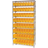 Shelving Units Steel Shelving: Quantum Storage Systems - Wire Shelving Unit with Store-More Bins