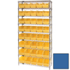 wire shelving: Quantum Storage Systems - Wire Shelving Unit with Store-More Bins