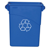 Recycling Containers: Rubbermaid Commercial - Slim Jim® Recycling Container with Handles