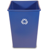 Recycling Containers: Rubbermaid Commercial - Square Recycling Container