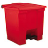 Rubbermaid Commercial Indoor Utility Step-On Waste Container RCP 6143 RED