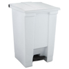 Rubbermaid Commercial Indoor Utility Step-On Waste Container RCP 6144 WHI
