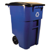 waste receptacles: Rubbermaid Commercial - Square Brute® Recycling Rollout Container