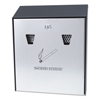 Rubbermaid Commercial Smokers Station® Wall Mounted Smoking Receptacle RCP R1012EBK