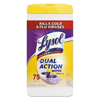 Stearns-packaging-disinfectants: Reckitt Benckiser - LYSOL® Dual Action™ Citrus Disinfecting Wipes