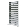 Safco A/V Adjustable Open Shelving, 12 Shelves, 36w x 13-1/4d x 78h, Light Gray SAF 4936LG