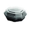 plastic containers: Solo - Cup Company OctaView Hinged-Lid Hot Food Containers