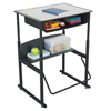 Safco AlphaBetter® Desk, 28 x 20 Premium Top, with Book Box SFC 1204GR