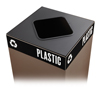 Safco-trash-receptacles: Safco - Public Square® Recycling Lids for Plastic