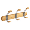 Safco Bamboo Wall Rack 3 Hook SFC 4612NA
