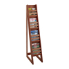 Safco Bamboo Magazine Floor Display 4 Pocket SFC 4622CY