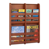 Safco Bamboo Magazine Wall Rack 4 Pocket SFC 4623CY