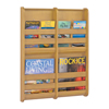 Safco Bamboo Magazine Wall Rack 4 Pocket SFC 4623NA