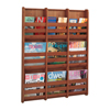 Safco Bamboo Magazine Wall Rack 9 Pocket SFC 4624CY