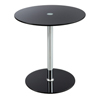 Safco Glass Accent Table - Black SFC 5095BL