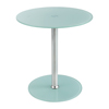 Safco Glass Accent Table - White SFC 5095WH