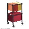 Safco 2-Tier Compact File Cart SFC 5221BL
